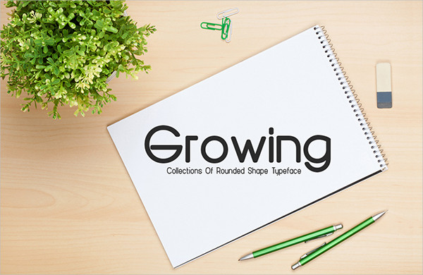 Growing Font for Professional Use