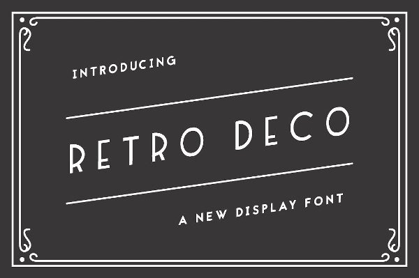 Handcrafted Art Deco Font