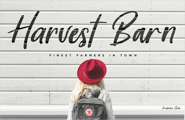 Harvest Barn Love Font Free