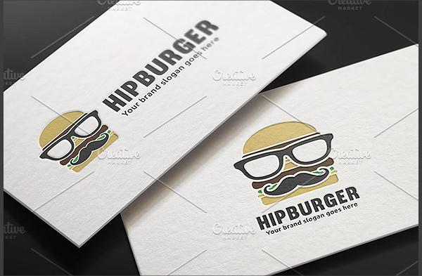 Hip Hamburger Logo Template