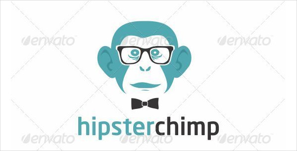 Hipster Chimp Logo Template