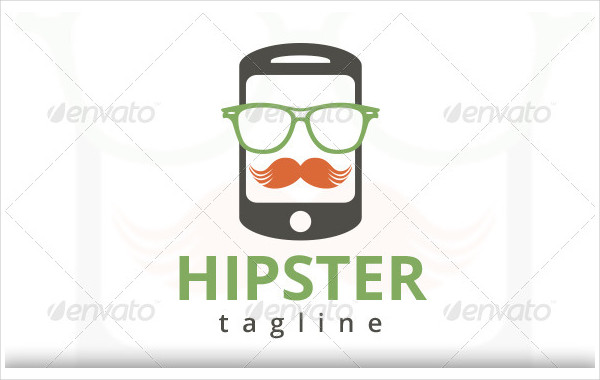 Hipster Phone Logo Template