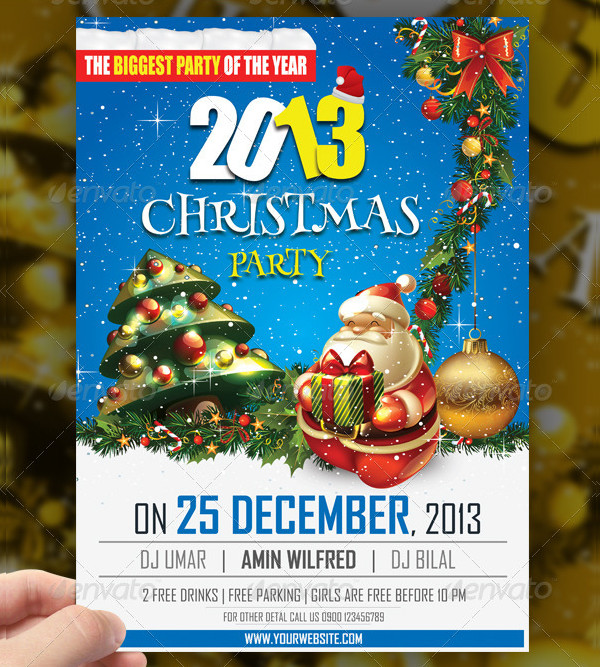 Holiday Christ Party Flyer Template