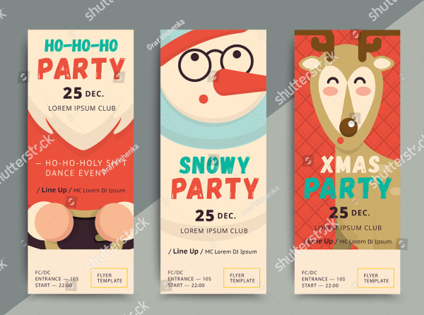 Holiday Party Flyers Design Vector