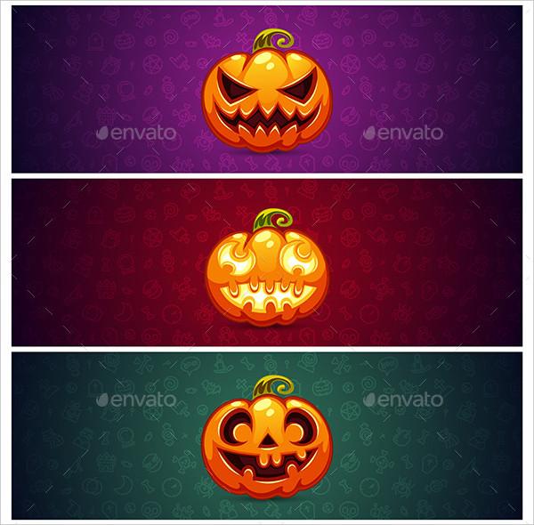 Horizontal Halloween Banner Backgrounds