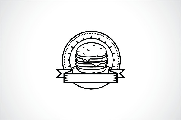 Hot and Tasty Burger Logo Template