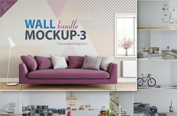 Interior Wall Mockups Bundle
