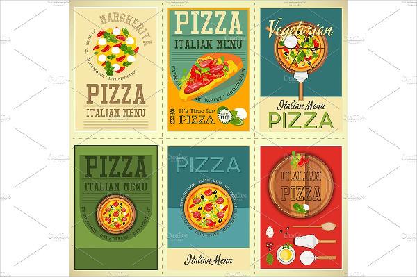 Italian Pizza Posters Set