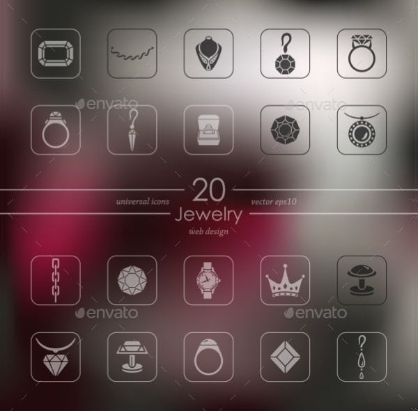 Jewelry Modern Icons for Mobile Interface