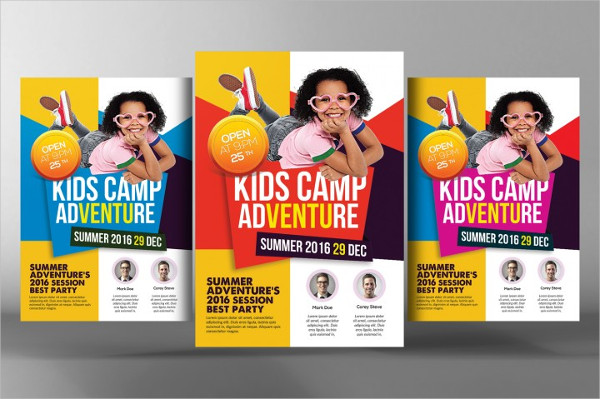Cool Kids Summer Camp Flyer Template