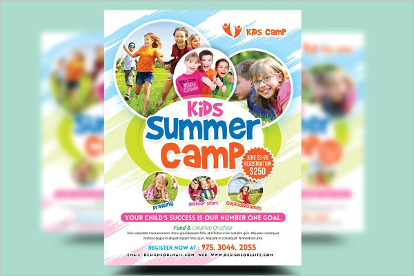Kids Summer Camp Flyers Design