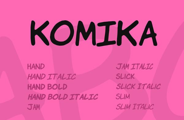 Komika Font Family Free