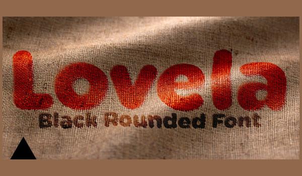 Lovely Black Round Font