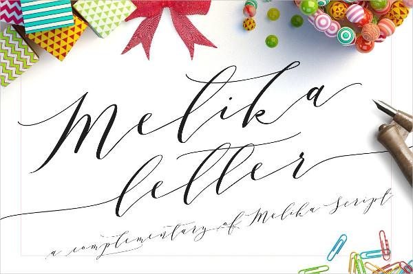 Melika Hand Lettered Font