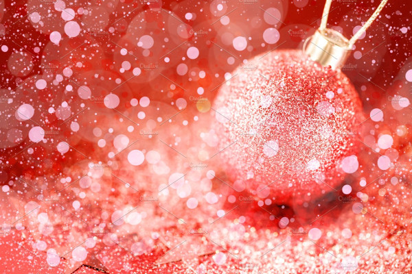 Christmas Ornaments with Pink Stardust