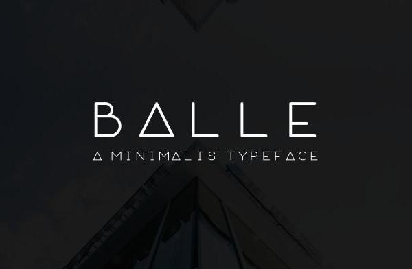 Minimal Rounded Typeface Font