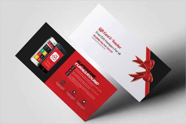 Mobile Apps Gift Vouchers Template