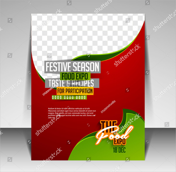 Modern Brochure Design for Food Expo