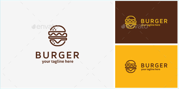 Modern Burger Logo Template
