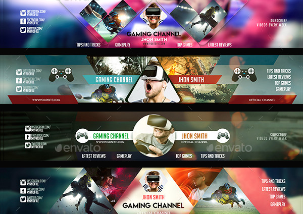 Modern Gamer YouTube Banners