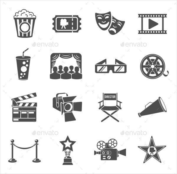 Modern Movie & Cinema Icons