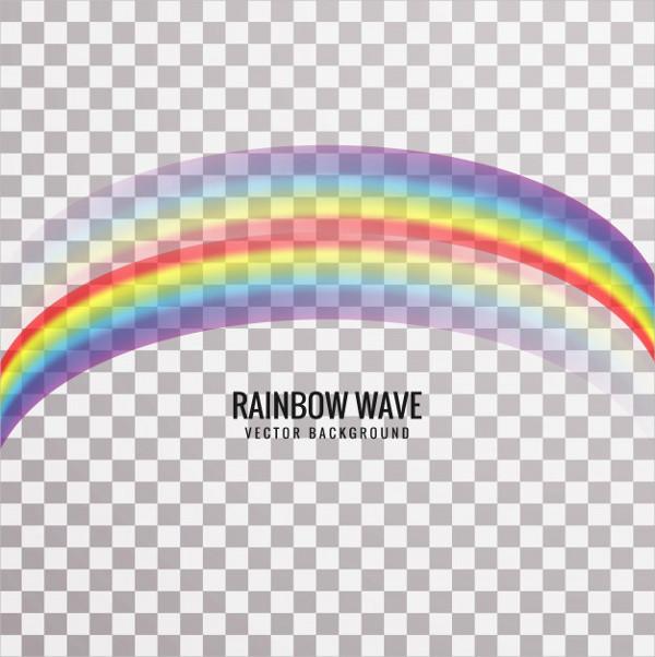 Modern Rainbow Wave Background Free