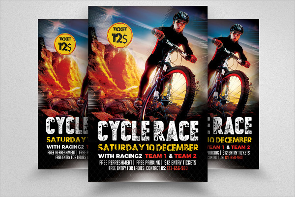Mountain Bicycle Flyer Design