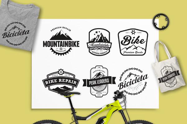 Mountain Bike Retro Logo Badges