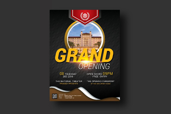 Classy Grand Opening Event Flyer Design