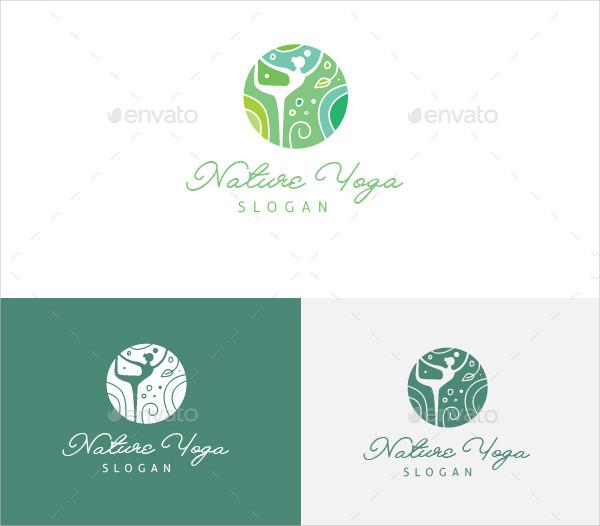 Nature Yoga Logo Template