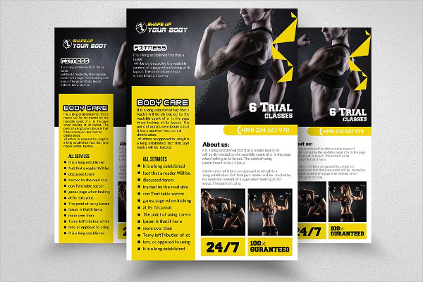 New Fitness Training Flyer Templates