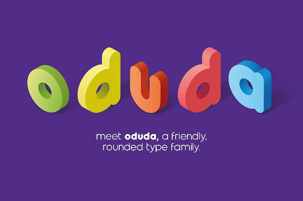 Oduda Rounded Typeface Font
