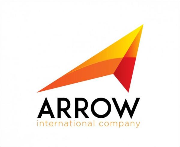 Orange Logo in Arrow Shape Free