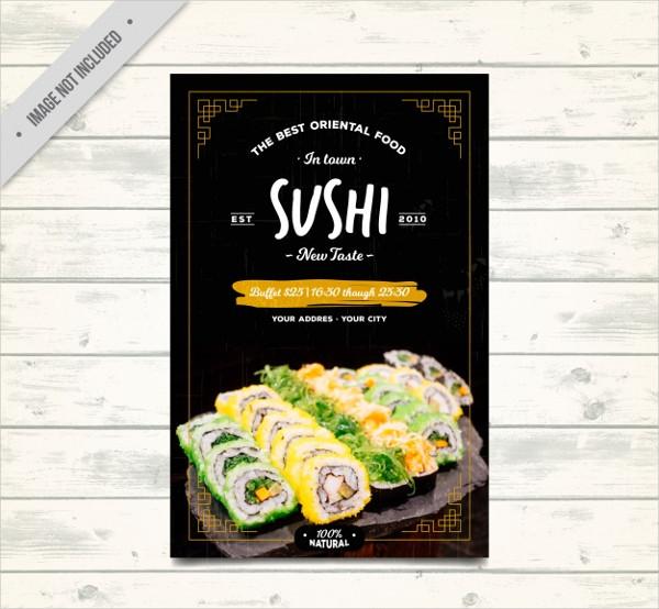 Oriental Food Brochure Free Vector