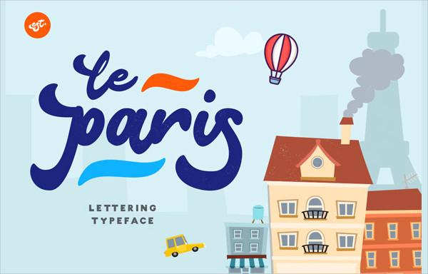 Paris Lettering Font