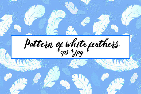 Pattern of White Feathers