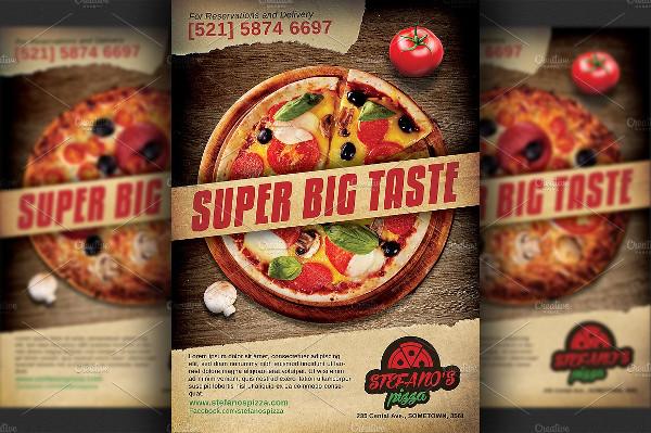 Pizza Restaurant Advertising Flyer Template