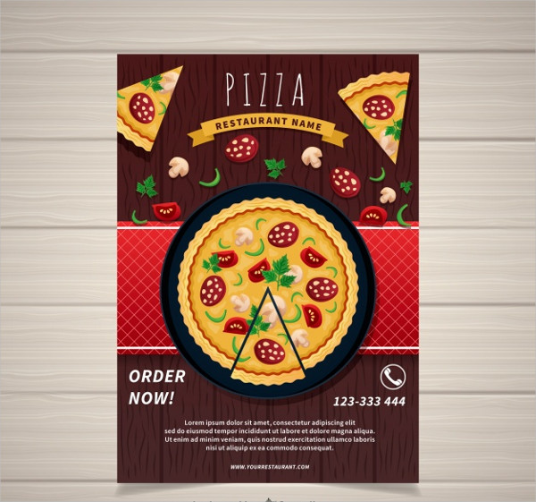 Pizza Delivery Poster Free Vector