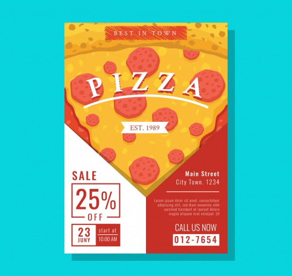 Pizza Poster Design Free Download