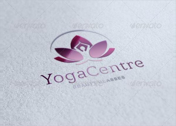 Popular Yoga Center Logo Template