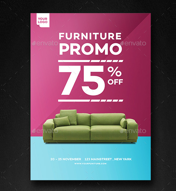 Print Ready Home Furniture Promo Flyer