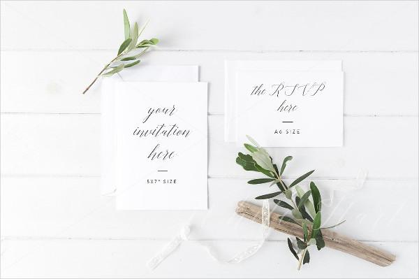 Printable Wedding Invitation Suite Mockup