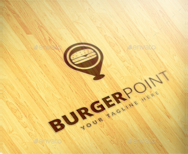 Professional Burger Point Logo Template