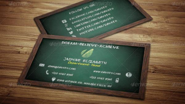 21 teacher business card templates free premium download professional teacher business card template wajeb Images