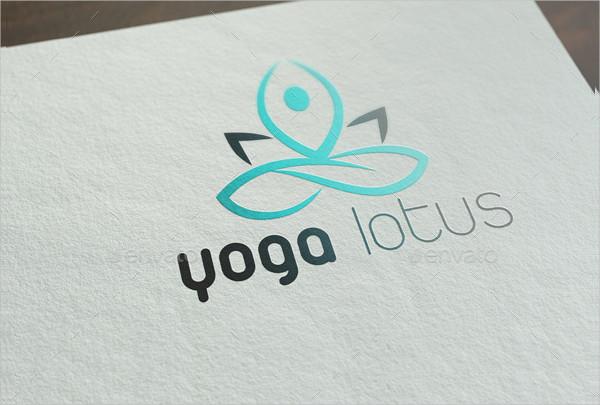 Professional Yoga Lotus Logo Template
