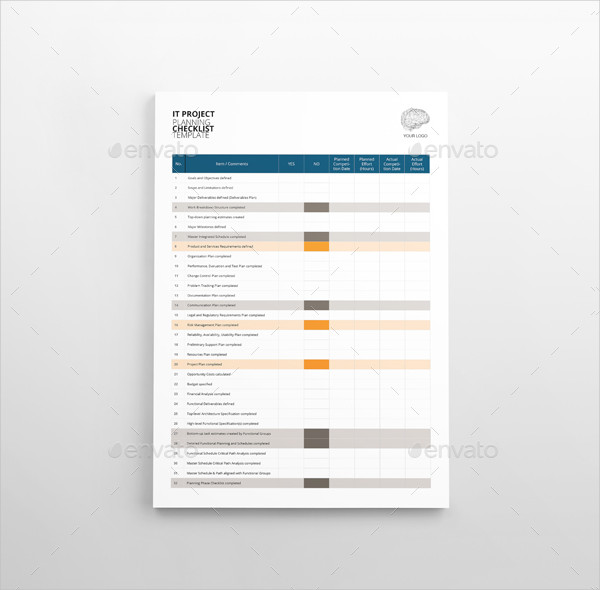 Project Planning Checklist Template