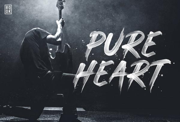 Pure Heart Brush Font