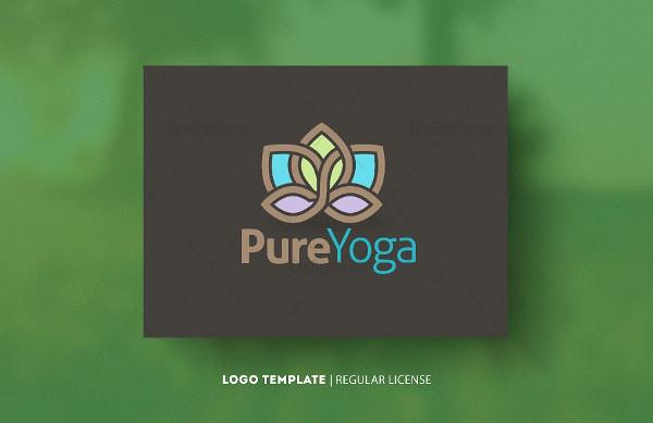 Pure Yoga Salon Logo Template