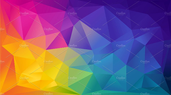 Geometric Rainbow Background