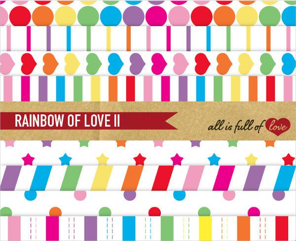 Rainbow Digital Paper Geometric Background